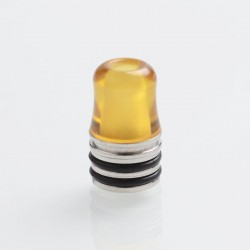 Kindbright Replacement 510 Drip Tip for RDA / RTA / RDTA Sub Ohm Tank - Brown, PEI + Stainless Steel