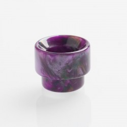 Authentic REEWAPE AS107 Replacement 810 Drip Tip for 528 Goon / Kennedy / Battle / Mad Dog RDA - Purple, Resin, 13mm