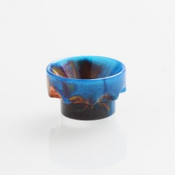 Authentic REEWAPE AS108 Replacement 810 Drip Tip for 528 Goon / Kennedy / Battle / Mad Dog RDA - Blue, Resin, 10mm