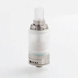 Kindbright KA V8 Nano Style RTA Rebuildable Tank Atomizer - Silver, 316 Stainless Steel + PC, 2.8ml, 22mm Diameter