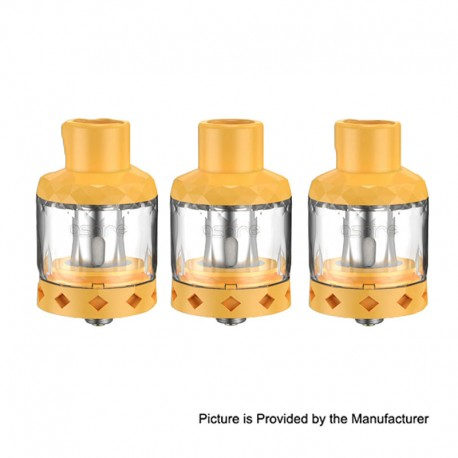 Authentic Aspire Cleito Shot Disposable Tank Clearomizer - Mango, PCTG + Stainless Steel, 0.3ohm, 4.3ml, 27mm Diameter (3 PCS)