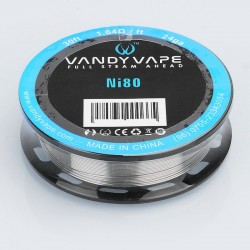Authentic Vandy Vape Ni80 Heating Resistance Wire for RDA / RTA / RDTA Atomzier - 24GA, 1.64 ohm / Ft, 10m (30 Feet)