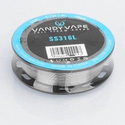 Authentic Vandy Vape SS316L Heating Resistance Wire for RDA / RTA / RDTA Atomizer - 26GA, 1.7 ohm / Ft, 10m (30 Feet)