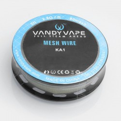 Authentic Vandy Vape Kanthal A1 Mesh Wire DIY Heating Wire for Mesh RDA / RTA / RDTA Atomizer - 2.8 ohm / Ft, 5 Feet (80 Mesh)