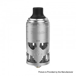 Authentic Vapefly German 103 Brunhilde MTL RTA Rebuildable Tank Atomizer - Silver, Stainless Steel, 5ml, 23mm Diameter