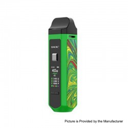 Authentic SMOK RPM40 40W 1500mAh VW Mod Pod System Starter Kit - Green, 1~40W, 4.3ml / 4.5ml, 0.4ohm / 0.6ohm