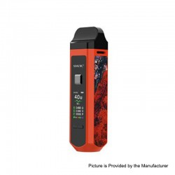 Authentic SMOK RPM40 40W 1500mAh VW Mod Pod System Starter Kit - Orange, 1~40W, 4.3ml / 4.5ml, 0.4ohm / 0.6ohm