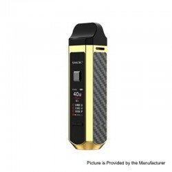 Authentic SMOK RPM40 40W 1500mAh VW Mod Pod System Starter Kit - Gold, 1~40W, 4.3ml / 4.5ml, 0.4ohm / 0.6ohm