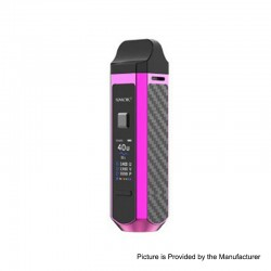 Authentic SMOK RPM40 40W 1500mAh VW Mod Pod System Starter Kit - Purple, 1~40W, 4.3ml / 4.5ml, 0.4ohm / 0.6ohm