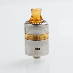 Whisper Style RDTA Rebuildable Dripping Tank Atomizer - Silver, Stainless Steel + PEI, 2ml, 22mm Diameter