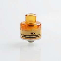 Whisper Style RDA Rebuildable Dripping Atomizer - Silver, Stainless Steel + PEI, 22mm Diameter