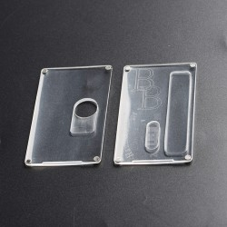SXK Replacement Front + Back Cover Panel for BB Style 70W / DNA60W Box Mod - Transparent, PC