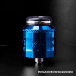 Authentic Augvape Occula RDA Rebuildable Dripping Atomizer w/ BF Pin - Blue, Stainless Steel, 24mm Diameter