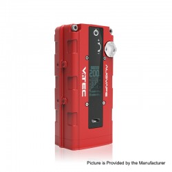 Authentic Augvape VTEC1.8 200W VV Variable Voltage Box Mod - Red, Zinc Alloy, 2 x 18650, 5~200W