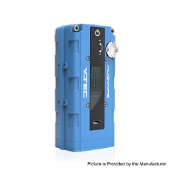 Authentic Augvape VTEC1.8 200W VV Variable Voltage Box Mod - Blue, Zinc Alloy, 2 x 18650, 5~200W