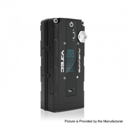 Authentic Augvape VTEC1.8 200W VV Variable Voltage Box Mod - Black, Zinc Alloy, 2 x 18650, 5~200W