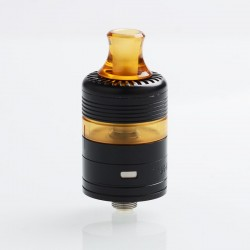 Whisper Style RDTA Rebuildable Dripping Tank Atomizer - Black, Stainless Steel + PEI, 2ml, 22mm Diameter
