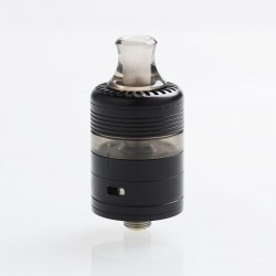 Whisper Style RDTA Rebuildable Dripping Tank Atomizer - Black + Translucent Black, Stainless Steel + PC, 2ml, 22mm Diameter