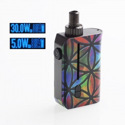Authentic Squid Industries Squad 30W 950mAh VW Pod System Kit - Flower of Life, 5~30W, 2ml, 0.6 ohm