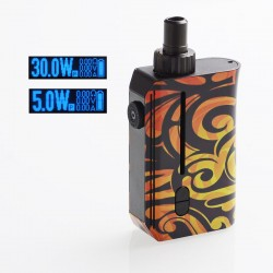 Authentic Squid Industries Squad 30W 950mAh VW Pod System Kit - Inferno, 5~30W, 2ml, 0.6 ohm