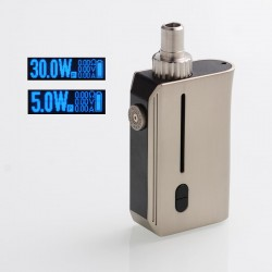 Authentic Squid Industries Squad 30W 950mAh VW Pod System Kit - Grey, 5~30W, 2ml, 0.6 ohm