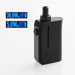 Authentic Squid Industries Squad 30W 950mAh VW Pod System Kit - Black, 5~30W, 2ml, 0.6 ohm