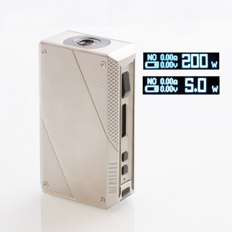 [Ships from Germany] Authentic Ehpro Cold Steel 200 TC VW Variable Wattage Box Mod - Silver + Gun metal, 5~200W, 2 x 18650