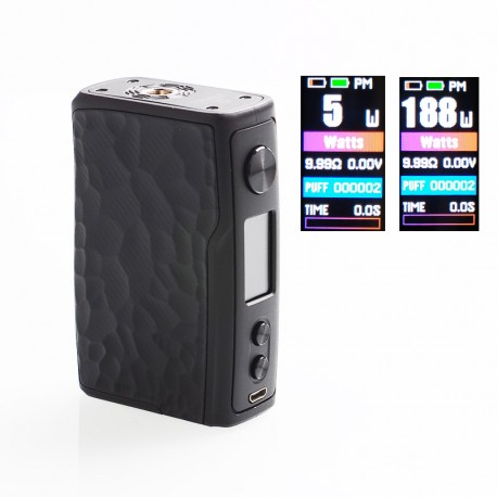 Authentic Vandy Vape Swell 188W VW Variable Wattage Box Mod - Obsidian Black, 5~188W, 2 x 18650