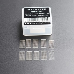 Authentic MECHLYFE x AmbitionZ Slatra Kanthal A1 Mesh Coil Sheet - Silver, 0.13ohm (30~50W) (10 PCS)