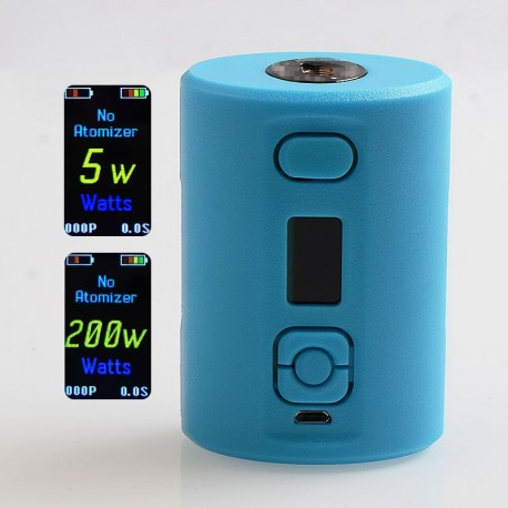 SXK Box Style 200W VV VW Variable Wattage Squonk Box Mod - Light Blue, 5~200W, 2 x 18650 / 20700, 7ml