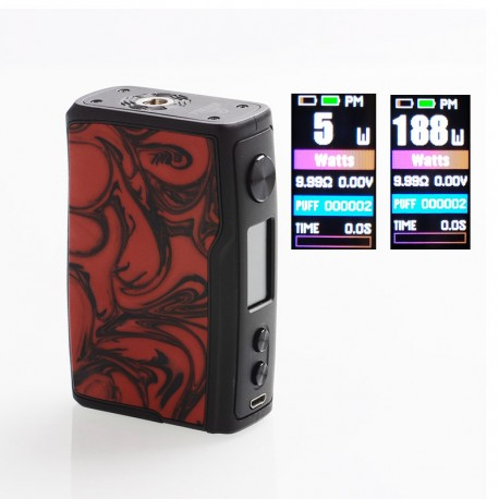 Authentic Vandy Vape Swell 188W VW Variable Wattage Box Mod - Flame Red, 5~188W, 2 x 18650