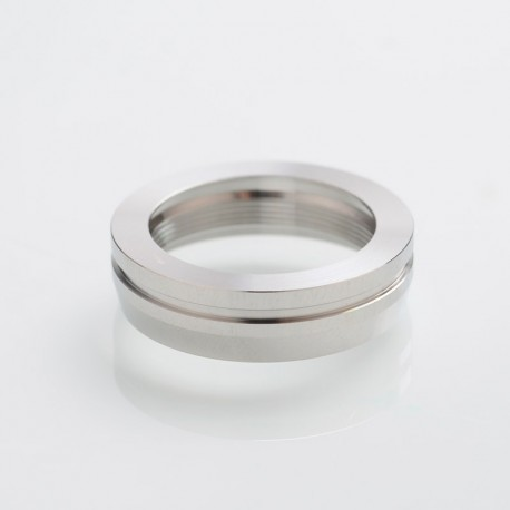 SXK AIRLab RM RDA Style Replacement Decorative Ring Adapter - Silver, 316 Stainless Steel, 24mm Outer Diameter