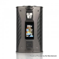 Authentic YiHi SXmini X Class 200W TC VW Variable Wattage Box Mod - Carbon Fiber, 5~200W, 2 x 18650