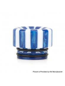 Authentic Reewape AS144 Replacement 810 Drip Tip for 528 Goon / Kennedy / Battle / Mad Dog RDA - Blue + White, Resin, 12mm