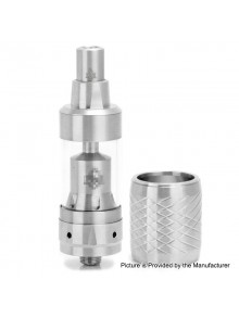 LieFeng KF Mini V3 Style RTA Rebuildable Tank Atomizer w/ Replacement Tank - Silver, 316 Stainless Steel, 2ml, 19mm Diameter