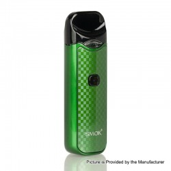 [Ships from HongKong] Authentic SMOKTech Nord 15W 1100mAh Pod System Starter Kit - Green Carbon Fiber, 3ml (Standard Edition)