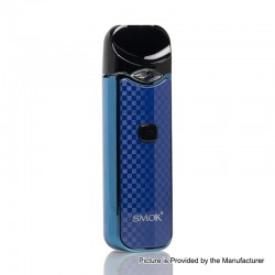 [Ships from HongKong] Authentic SMOKTech Nord 15W 1100mAh Pod System Starter Kit - Blue Carbon Fiber, 3ml (Standard Edition)