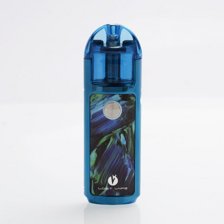 Authentic Lost Vape Lyra 1000mAh 20W Pod System Starter Kit - Blue Ripple, Resin, 2ml, 1.4ohm
