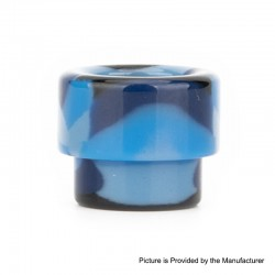 Authentic Reewape AS158 Replacement 810 Drip Tip for 528 Goon / Kennedy / Reload RDA - Blue, Resin, 13mm