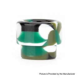 Authentic Reewape AS158 Replacement 810 Drip Tip for 528 Goon / Kennedy / Reload RDA - Green + White, Resin, 13mm