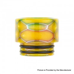 Authentic Reewape AS159S Replacement 810 Drip Tip for TFV8 / TFV12 Tank / Goon / Kennedy / Reload RDA - Yellow, Resin, 14mm