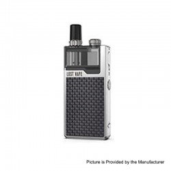 Authentic Lost Vape Orion Plus DNA 22W 950mAh VW Pod System Starter Kit - Silver-Textured, 0.25 / 0.5ohm, 2ml