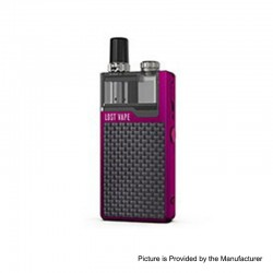 Authentic Lost Vape Orion Plus DNA 22W 950mAh VW Pod System Starter Kit - Purple-Textured, 0.25 / 0.5ohm, 2ml