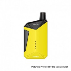 [Ships from HongKong] Authentic SMOKTech SMOK X-Force 45W 2000mAh Pod Starter Kit - Yellow, PC+ PCTG, 7ml