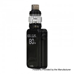 [Ships from HongKong] Authentic Eleaf iStick Nowos 80W 4400mAh Box Mod + ELLO Duro Tank Kit - Black, 6.5ml, 28mm Diameter