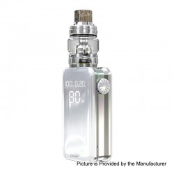 [Ships from HongKong] Authentic Eleaf iStick Nowos 80W 4400mAh Box Mod + ELLO Duro Tank Kit - Silver, 6.5ml, 28mm Diameter