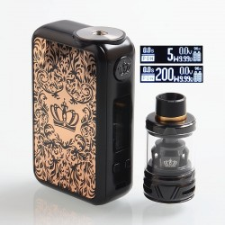 [Ships from HongKong] Authentic Uwell Crown 4 IV 200W TC VW Box Mod + Crown 4 IV Tank Kit - Gold, 5~200W, 2 x 18650, 6ml
