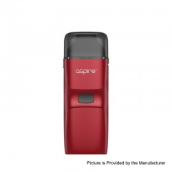 [Ships from HongKong] Authentic Aspire Breeze NXT 1000mAh Pod System Starter Kit - Red, Zinc Alloy + Silicone, 0.8ohm, 5.4ml