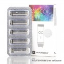 Authentic Vaporesso Orca Solo CCELL Coil Head w/ Organic Cotton - Silver, Stainless Steel, 1.3ohm (5 PCS)