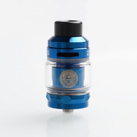 Authentic GeekVape Zeus Sub Ohm Tank Atomizer - Blue, SS + Glass, 2ml / 5ml, 26mm Diameter